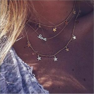Jewelry - ☆ NEW Layered Love Star Necklace ☆